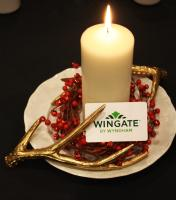 Christmas Candle at Wyndham Calgary Airport