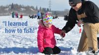 Learning to Ice Fish at Lake Wabamun