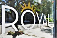 Royal Logo On Glass