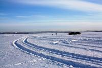 Late Season of Ice Fishing at Lake Wabamun