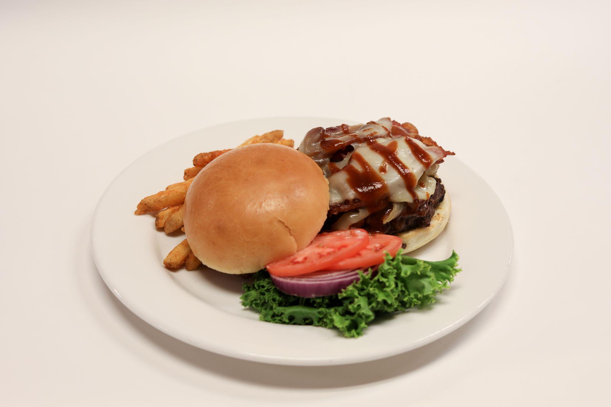 Burger at Prime Steak & Wine
